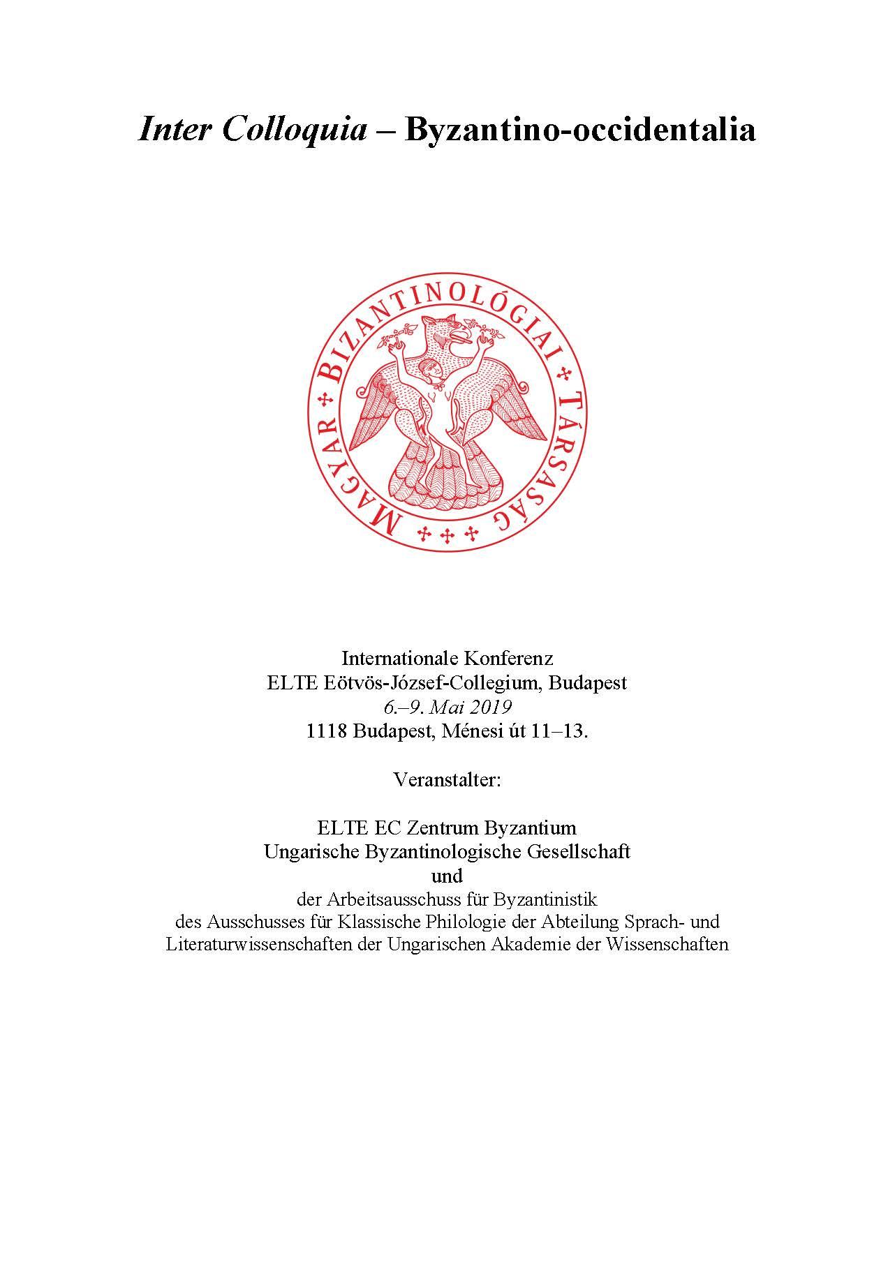 Byzantino-occidentalia plakát